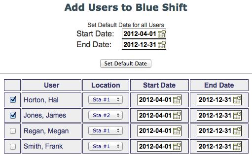 Shift Add Users