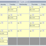 Shift Calendar April