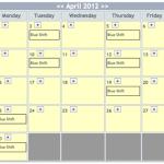 Shift Calendar April